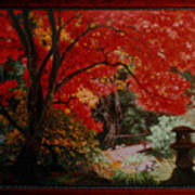 Canopy Of Red Art Print