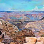 Canyon Blues Art Print