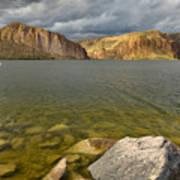 Canyon Lake Stormy Sky Art Print