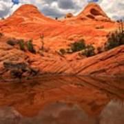 Canyon Reflections At Yant Flat Art Print