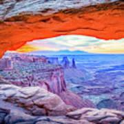 Canyon Reflections Art Print