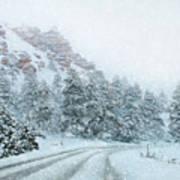 Canyon Snow Art Print