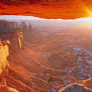 Canyonlands Cavern At Sunset Art Print