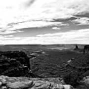 Canyonlands National Park Utah Pan 06 Bw Art Print