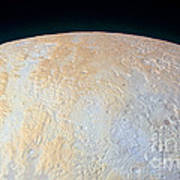 Canyons Around Plutos North Pole Art Print