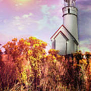 Cape Blanco Lighthouse In Oregon Art Print