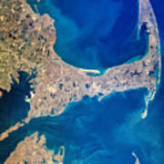 Cape Cod And Islands Spring 1997 View From Satellite Art Print