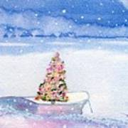 Cape Cod Christmas Tree Art Print