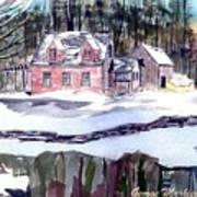 Cape Cod House Art Print