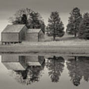 Cape Cod Reflections Black And White Photography Art Print