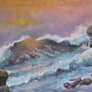 Cape Cod Waves Art Print by Lyn Vic