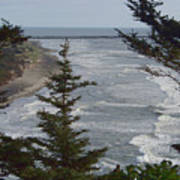 Cape Disappointment Beach Art Print