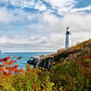 Cape Elizabeth Maine - Portland Head Lighthouse Art Print