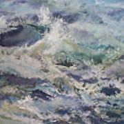 Cape Elizabeth Wave Breaks Art Print