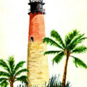 Cape Florida Lighthouse Art Print