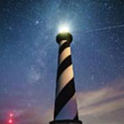 Cape Hatteras Light Under The Stars Art Print