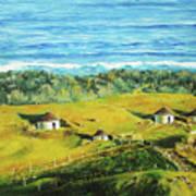 Cape Huts Art Print