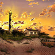 Cape Lookout Lighthouse 2 Art Print