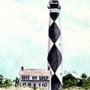 Cape Lookout Lighthouse Outer Banks North Carolina Art Print
