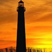Cape May Light Sunset Art Print