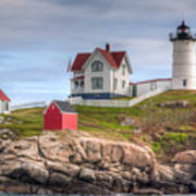 Cape Neddick Nubble Lighthouse I Art Print