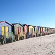 Cape Town Beachhuts Art Print