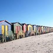 Cape Town Beachhuts Art Print
