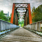 Caperton Trail And Bridge Art Print by Steven Ainsworth