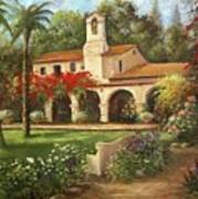 Capistrano Courtyard Art Print