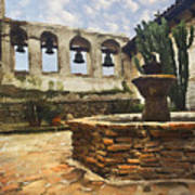 Capistrano Fountain Art Print