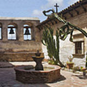 Capistrano Mission Courtyard Art Print