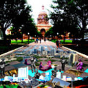 Capital Collage Austin Music Art Print by James Granberry