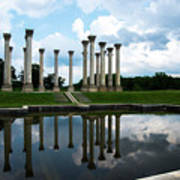 Capitol Columns, National Arboretum Art Print