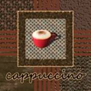 Cappuccino - Coffee Art - Red Art Print