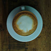 Cappuccino In A Cup Art Print