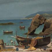 Capri Beach Art Print