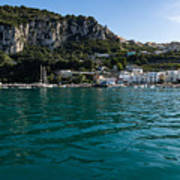 Capri Island Silky Smooth Emerald And Aquamarine Art Print