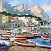 Capri Sunshine Art Print