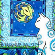 Capricorn Cat Zodiac Art Print