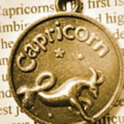 Capricorn Zodiac Lucky Charm Art Print