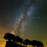 Caprock Canyon Bison Stars Art Print