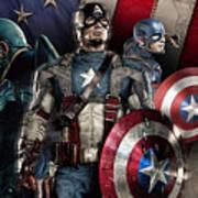 Captain America - America Art Print
