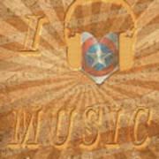 Captain America Lullaby Original Digital Art Print