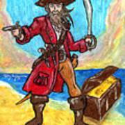 Captain's Treasure Art Print