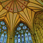 Chapter House Ceiling, York Minister Art Print