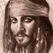 Capt.jack Art Print