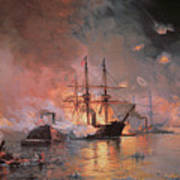 Capture Of New Orleans By Union Flag Officer David G Farragut Art Print