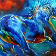 Captured Wild Stallion Art Print