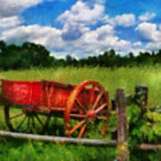 Car - Wagon - The Old Wagon Cart Art Print