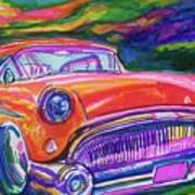 Car And Colorful Art Print by Evelyn Sprouse Rowe
